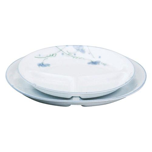 66447-180 スイートピー(強化磁器) 8吋丸仕切皿|業務用食器カタログ陶里30号