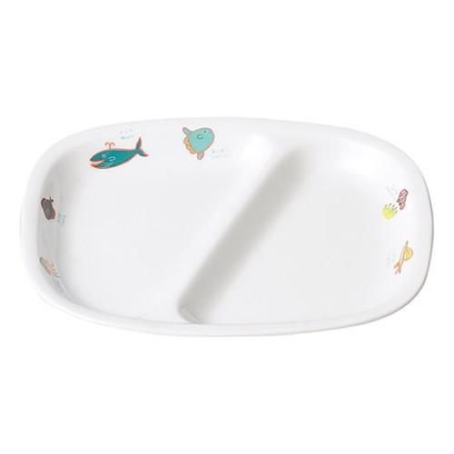 66526-070 シーワールド 角仕切皿|業務用食器カタログ陶里30号