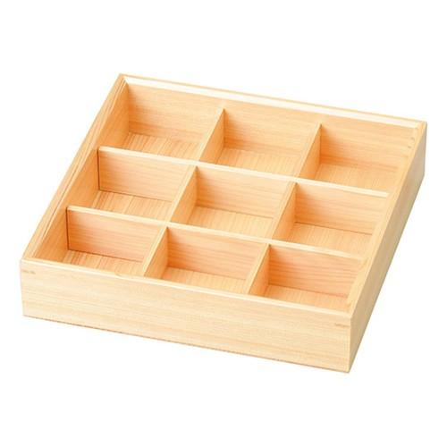 67016-500 白木遊彩箱(九ツ仕切)|業務用食器カタログ陶里30号
