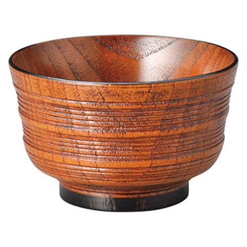 67211-550 [木][漆]羽反筋入 汁椀 黒|業務用食器カタログ陶里30号