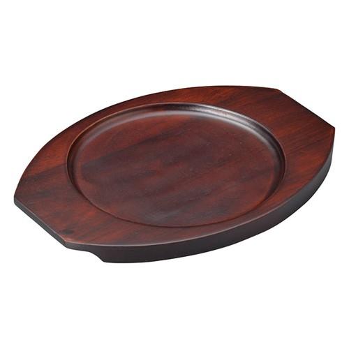 67217-550 [木][ウ]グラタン皿台丸 大|業務用食器カタログ陶里30号