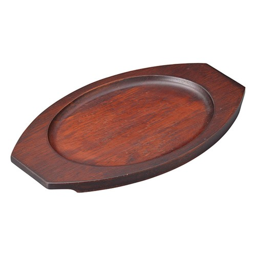 67218-550 [木][ウ]グラタン皿台小判|業務用食器カタログ陶里30号
