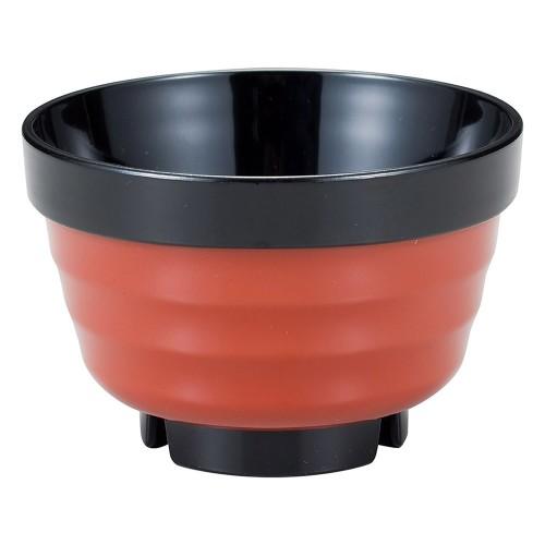 67611-560 [TA](小)ロクロ重ね椀 朱帯黒|業務用食器カタログ陶里30号