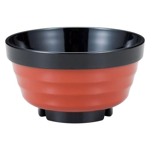 67612-560 [TA](大)ロクロ重ね椀 朱帯黒|業務用食器カタログ陶里30号