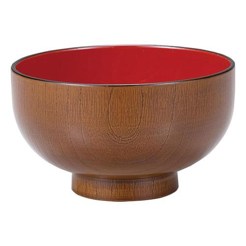 67627-560 [TA]3.8寸木目汁椀 ケヤキ内朱|業務用食器カタログ陶里30号