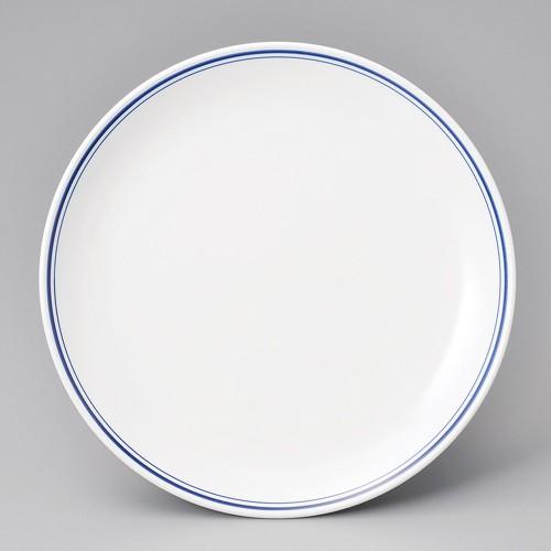 69623-110 ブルーラインメタ12吋丸皿|業務用食器カタログ陶里30号