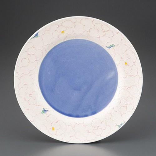 69701-180 花銀彩リム付26cm皿|業務用食器カタログ陶里30号