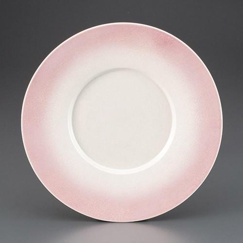 69705-180 ピンクラスター27cm丸皿|業務用食器カタログ陶里30号