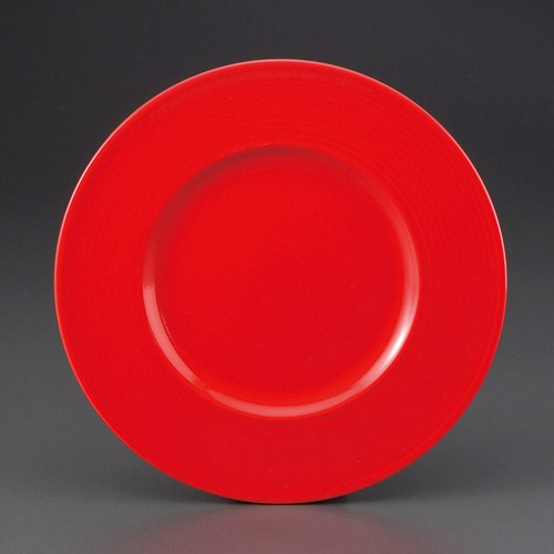 69801-330 レッドラティス27cmプレート|業務用食器カタログ陶里30号