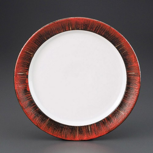 69810-160 掻落赤柚子7.5皿|業務用食器カタログ陶里30号