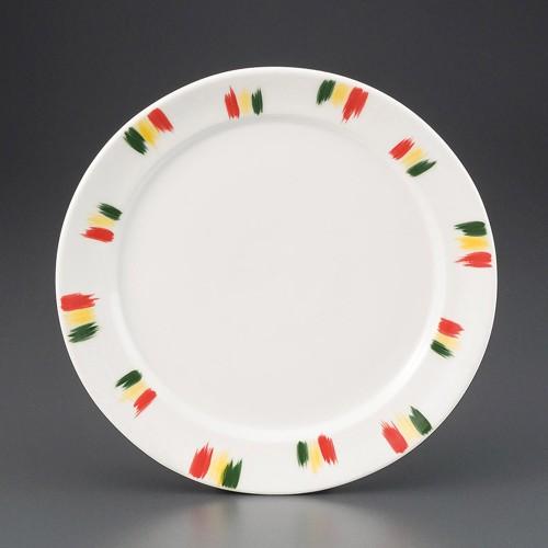 69813-160 釉上三彩絣9.0皿|業務用食器カタログ陶里30号