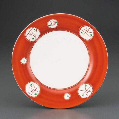 69814-180 夢楽 彫入8.0皿|業務用食器カタログ陶里30号