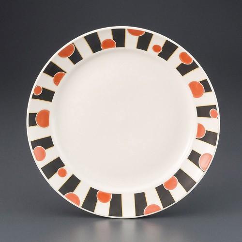 69817-180 朱丸9.0皿|業務用食器カタログ陶里30号
