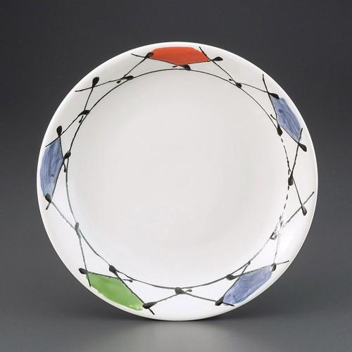 69818-030 彩格子8.5皿|業務用食器カタログ陶里30号