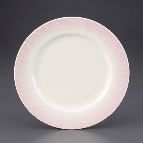 69820-180 ピンク白吹リム付8.5寸皿|業務用食器カタログ陶里30号