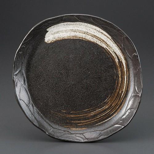 69822-250 栗色刷毛目塗り壁パスタ皿|業務用食器カタログ陶里30号
