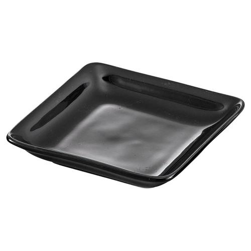 70011-150 スワン角取皿 ブラック|業務用食器カタログ陶里30号