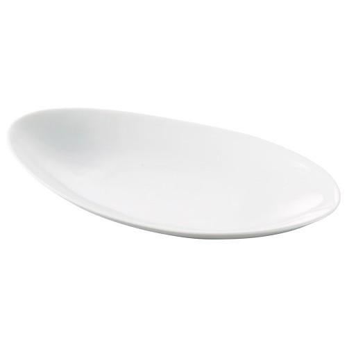 71516-330 プレーンオーバルトレー(中) 業務用食器カタログ陶里30号