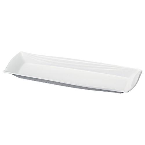 71601-070 白釉レガンス41.5cm長皿 業務用食器カタログ陶里30号
