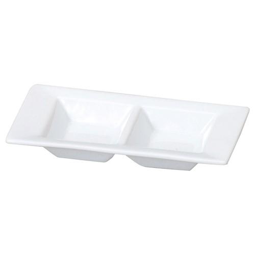 72630-050 スタイルI 白2仕切皿|業務用食器カタログ陶里30号