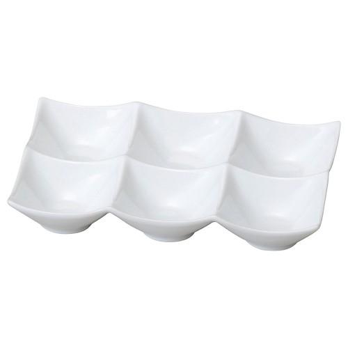 72640-050 スタイルI 角鉢6P(白)|業務用食器カタログ陶里30号