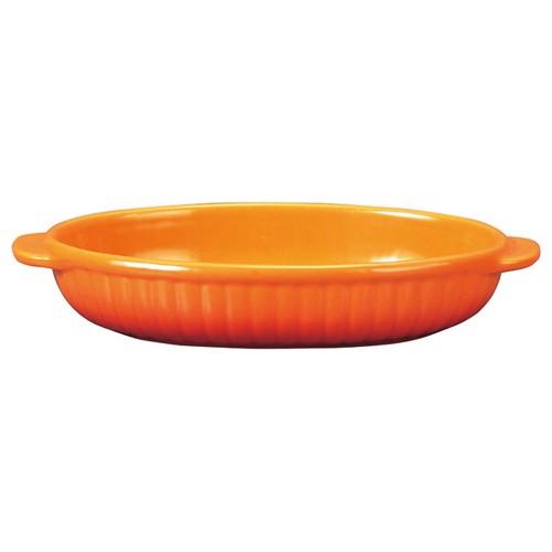 78009-110 コローレ オレンジ舟形グラタン|業務用食器カタログ陶里30号