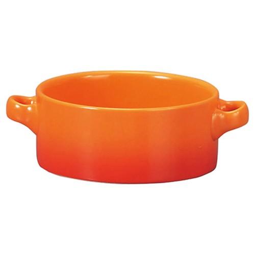 78010-110 コローレ オレンジ両手スープグラタン|業務用食器カタログ陶里30号