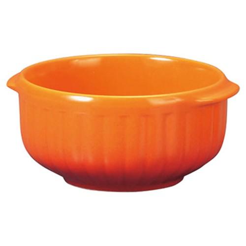78015-110 コローレ オレンジ丸グラタン(S)|業務用食器カタログ陶里30号