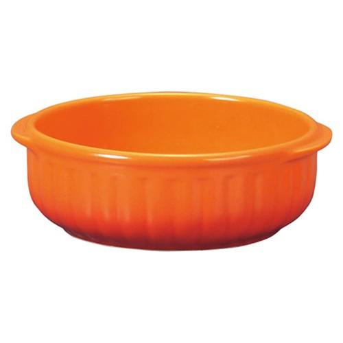 78016-110 コローレ オレンジ丸グラタン(L)|業務用食器カタログ陶里30号