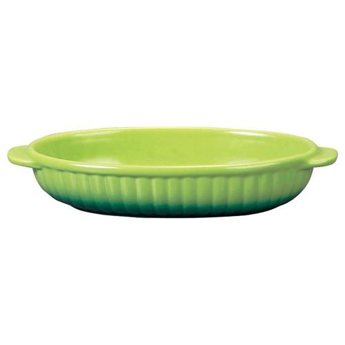 78030-110 コローレ グリーン舟形グラタン|業務用食器カタログ陶里30号