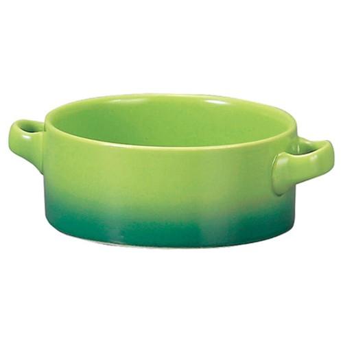 78031-110 コローレ グリーン両手スープグラタン|業務用食器カタログ陶里30号