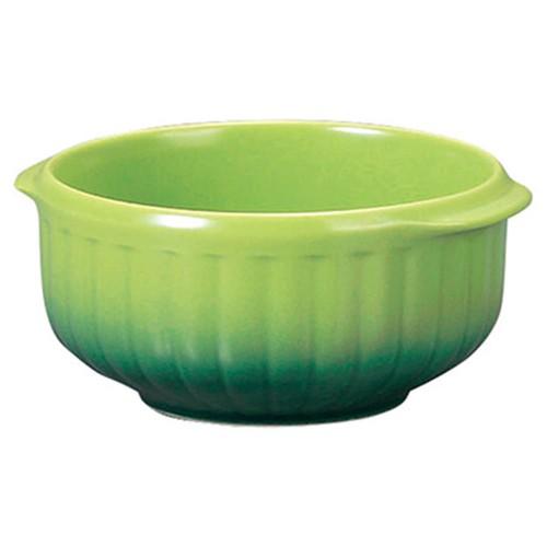 78036-110 コローレ グリーン丸グラタン(S)|業務用食器カタログ陶里30号