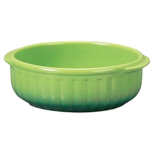 78037-110 コローレ グリーン丸グラタン(L)|業務用食器カタログ陶里30号