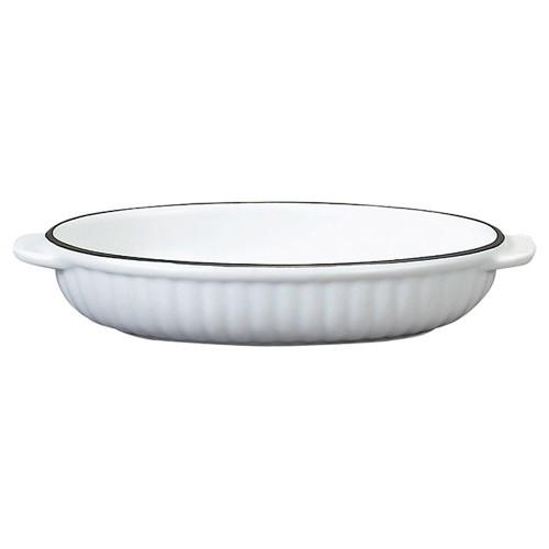 78051-110 コローレ ホワイト舟形グラタン|業務用食器カタログ陶里30号