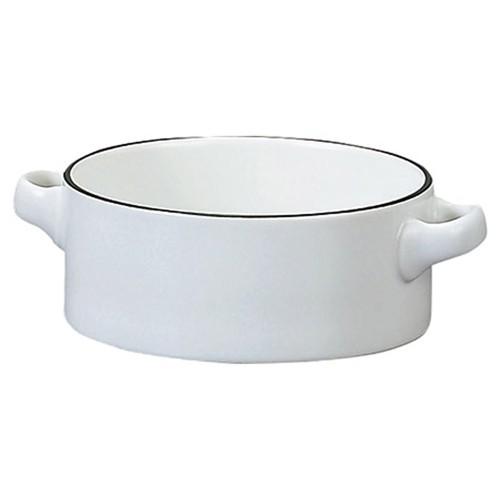 78052-110 コローレ ホワイト両手スープグラタン|業務用食器カタログ陶里30号