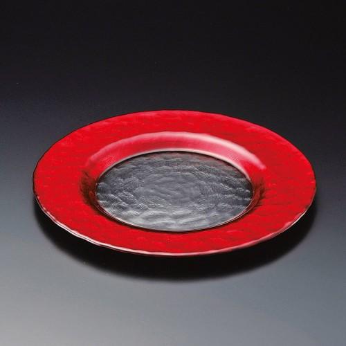 81203-250 レッドリムプレート22.5cm 業務用食器カタログ陶里30号
