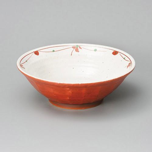 84812-180 朱巻 花つなぎ型入8.0ラーメン丼|業務用食器カタログ陶里30号