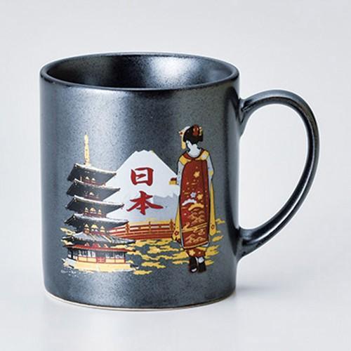 85801-380 80mmマグ鉄結晶 富士山 五重塔舞妓|業務用食器カタログ陶里30号