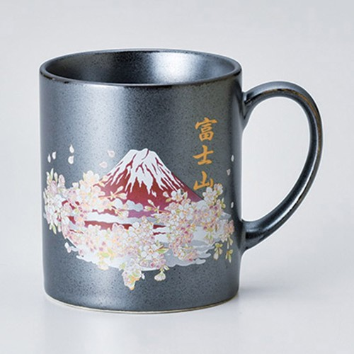 85806-380 80mmマグ鉄結晶 富士山桜 RED|業務用食器カタログ陶里30号