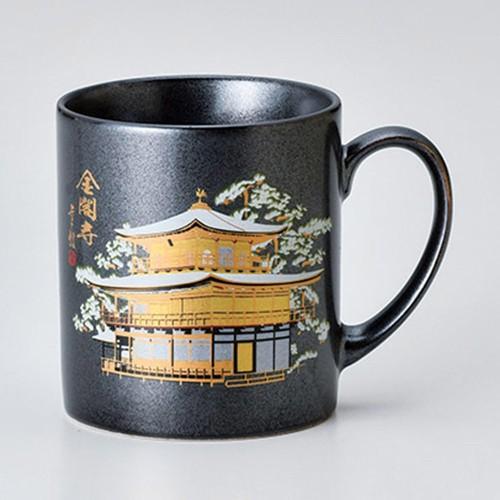 85810-380 80mmマグ鉄結晶 金閣寺 冬景色|業務用食器カタログ陶里30号