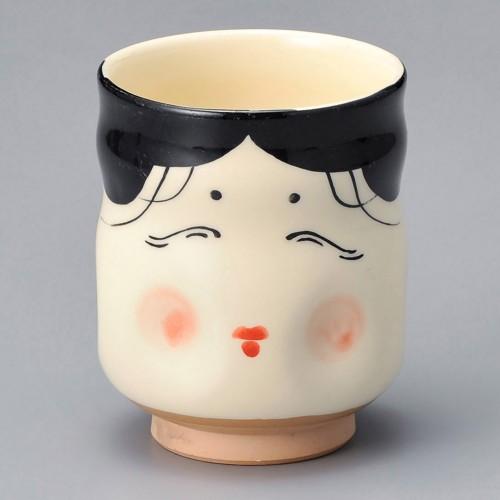 86917-100 新おかめ寿司湯呑|業務用食器カタログ陶里30号