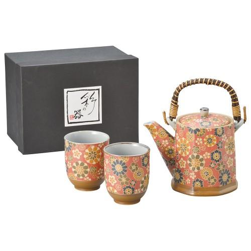87001-070 千寿ビスク(赤)八角土瓶茶器1:2|業務用食器カタログ陶里30号
