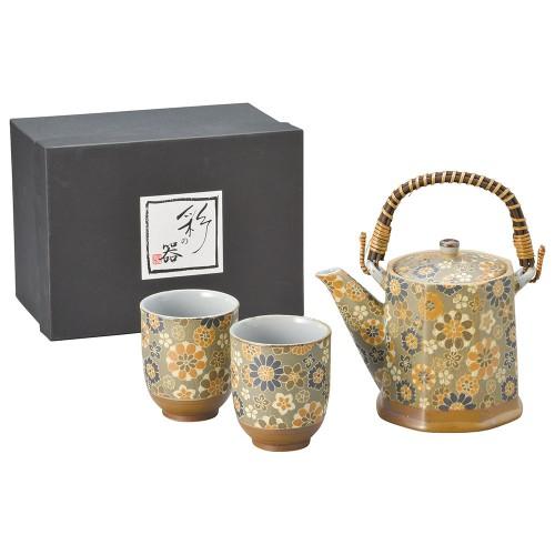 87002-070 千寿ビスク(水色)八角土瓶茶器1:2|業務用食器カタログ陶里30号
