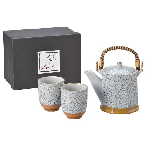 87006-070 こぼれ桜(青)八角土瓶茶器1:2|業務用食器カタログ陶里30号