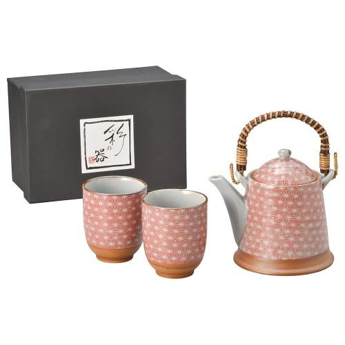 87008-070 色麻葉(赤)A型土瓶茶器1:2|業務用食器カタログ陶里30号