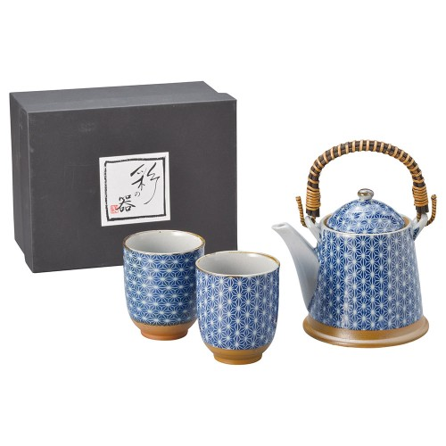 87009-070 色麻葉(青)A型土瓶茶器1:2|業務用食器カタログ陶里30号