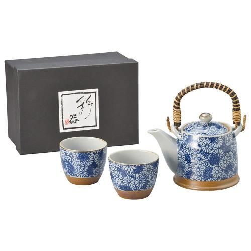87012-070 染菊花S土瓶茶器1:2|業務用食器カタログ陶里30号
