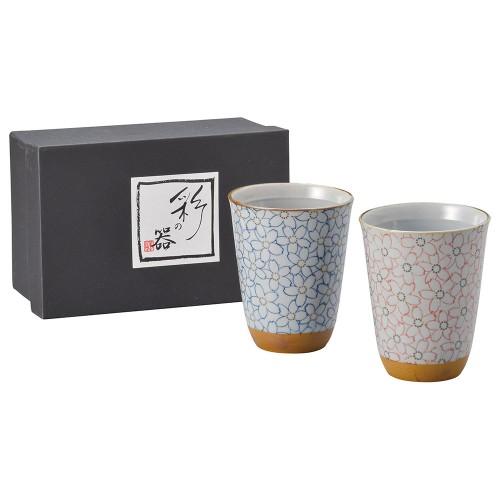 87103-070 こぼれ桜フリーカップ・ペアー|業務用食器カタログ陶里30号