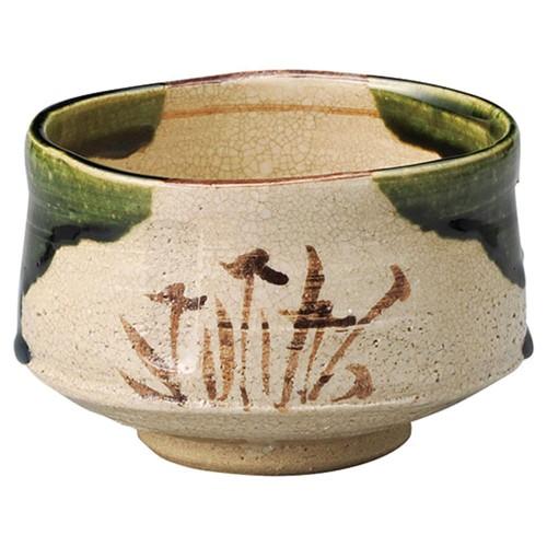 87201-450 織部茶盌(桐)鉄山作|業務用食器カタログ陶里30号