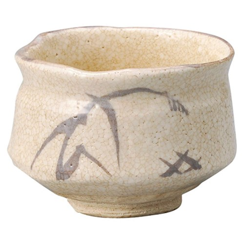 87206-450 志野茶盌(木)春草作|業務用食器カタログ陶里30号